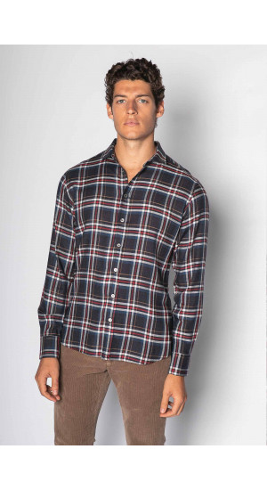 Slim Fit Checkered Cotton Shirt Eduardo & Elisa Rivera