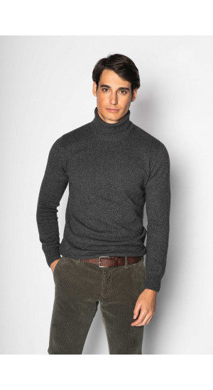 Marengo Gray Back Neck Sweater Eduardo & Elisa Rivera