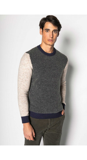 Tricolor Knitted Sweater Eduardo & Elisa Rivera