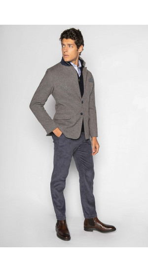 Light Gray Flecked Blazer Eduardo & Elisa Rivera