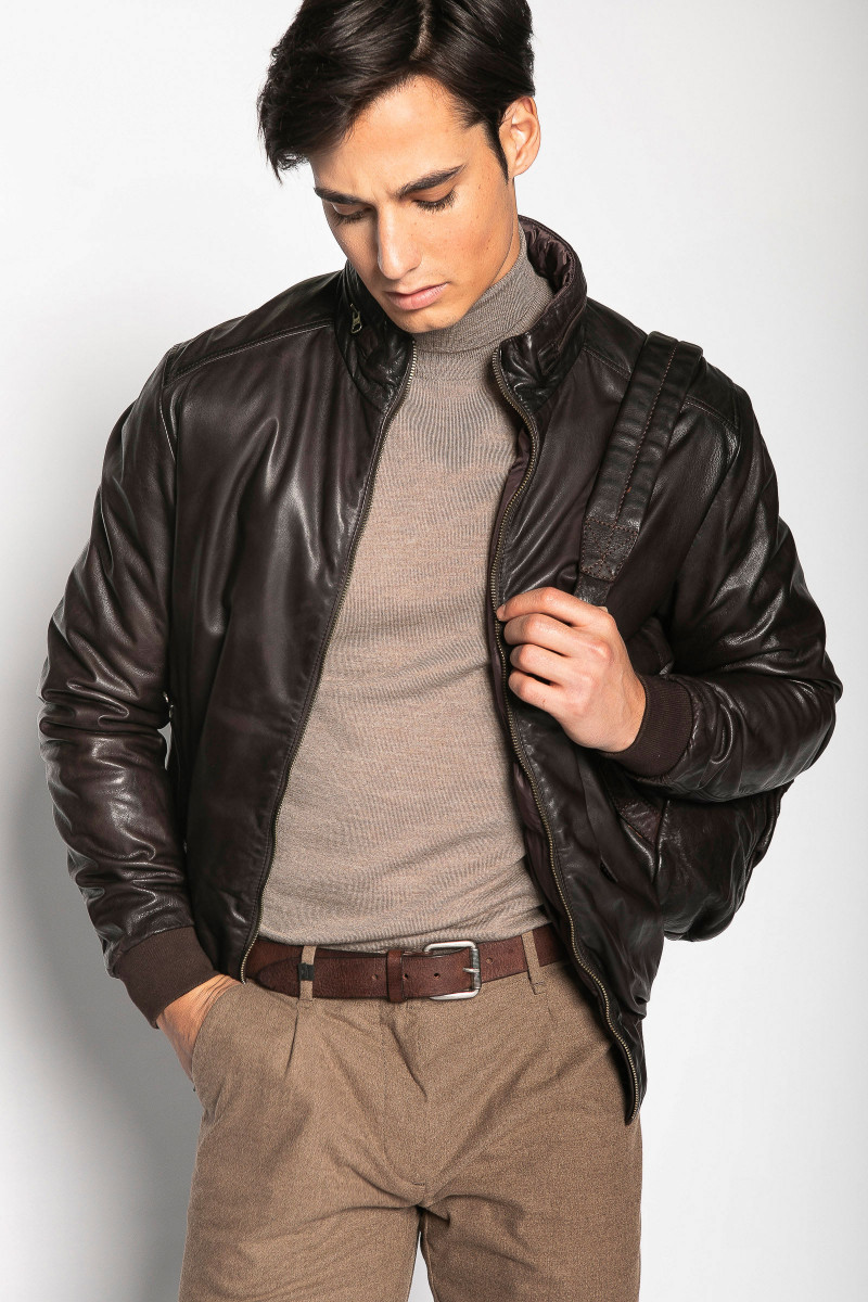 Brown Reversible Leather...