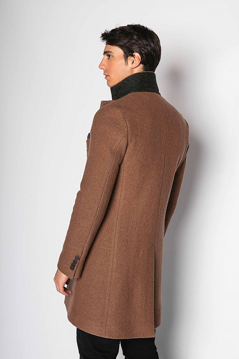 Double-breasted Brown Coat