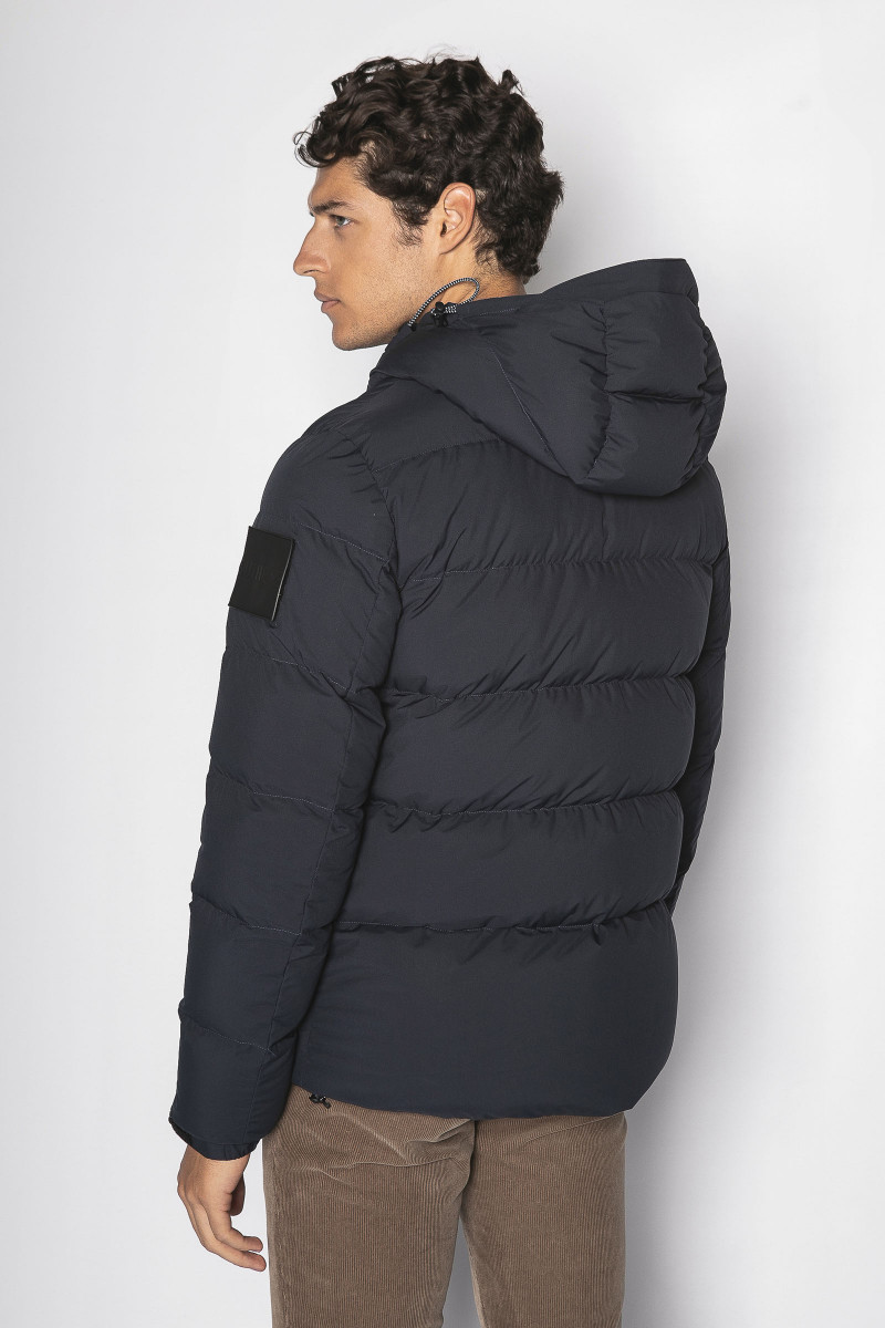 Blue Outhere Feather Jacket