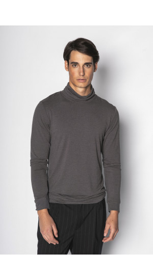 Gray Long Sleeve T-shirt Eduardo & Elisa Rivera