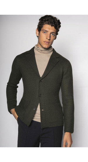 Wool Green Jacket Eduardo & Elisa Rivera