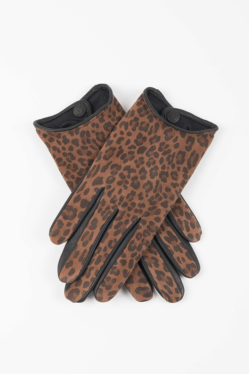 Animal Print Gloves Elisa & Eduardo Rivera