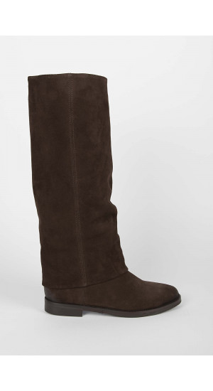 Chocolate Slouch Boot Elisa & Eduardo Rivera