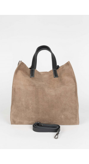 Taupe Big Tote Bag Elisa & Eduardo Rivera