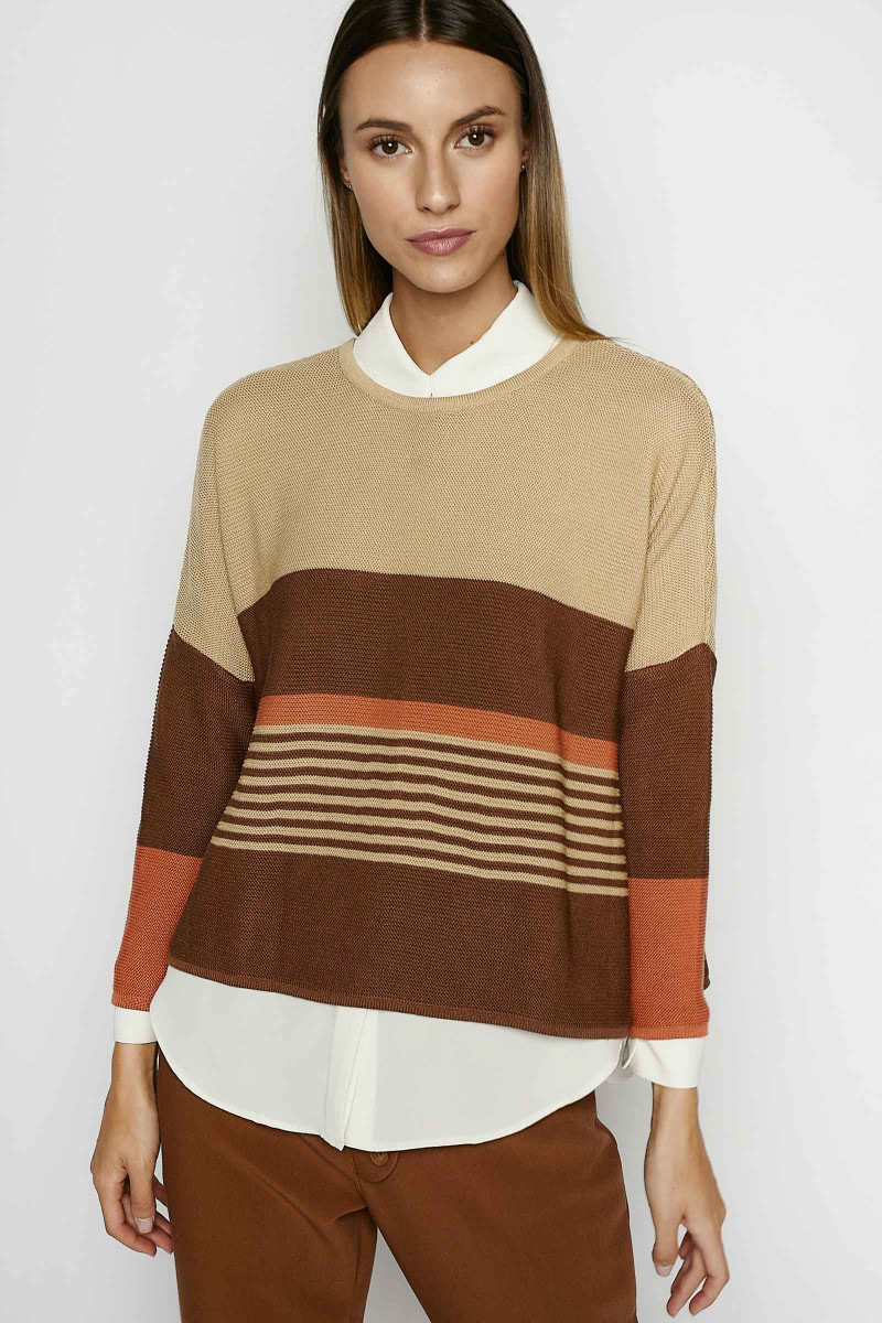 Beige Julia Sweater Elisa & Eduardo Rivera
