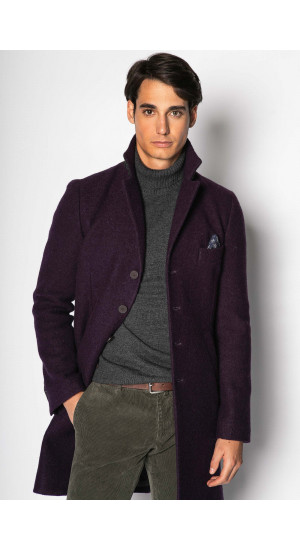Purple Wool Coat Eduardo&Elisa Rivera