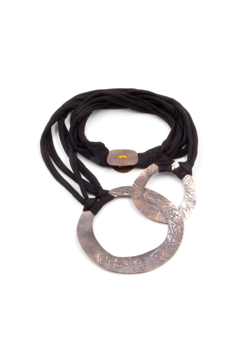 Black Washer Necklace