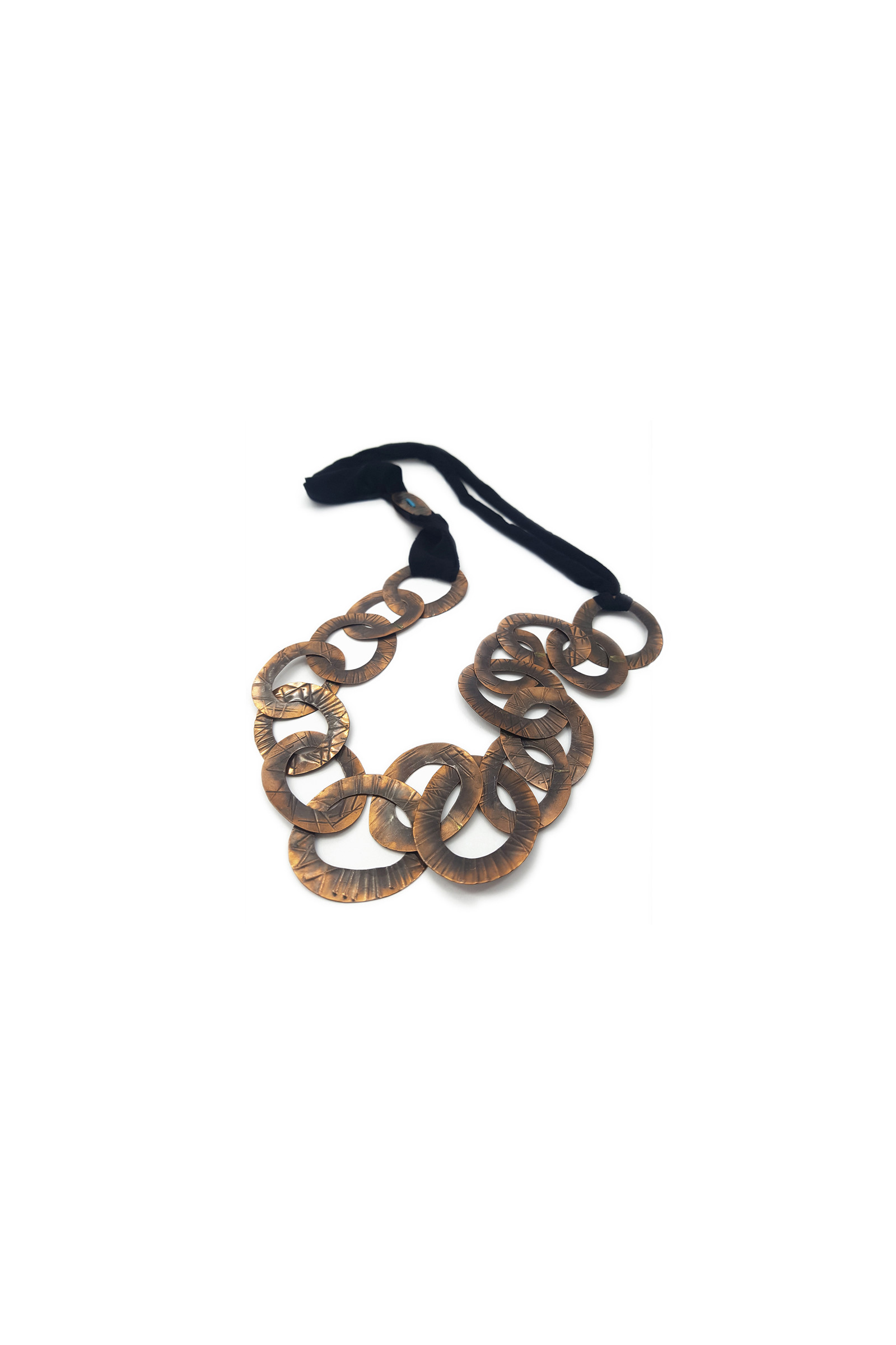 Black Copper Link Necklace Elisa & Eduardo Rivera