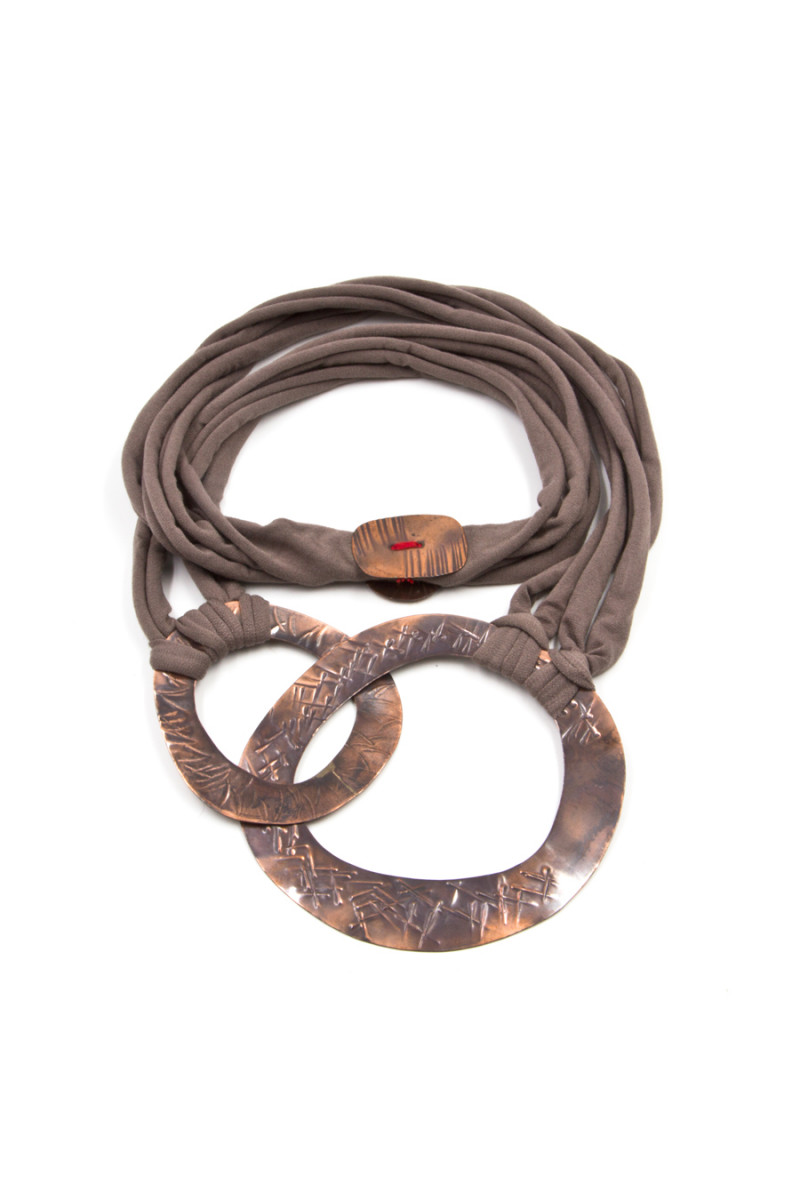 Taupe Washer Necklace