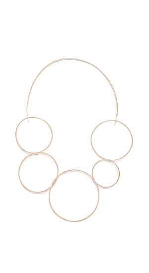 Brass Circles Necklace Elisa & Eduardo Rivera