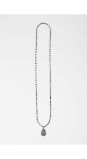 Gray Buddha Necklace Elisa & Eduardo Rivera