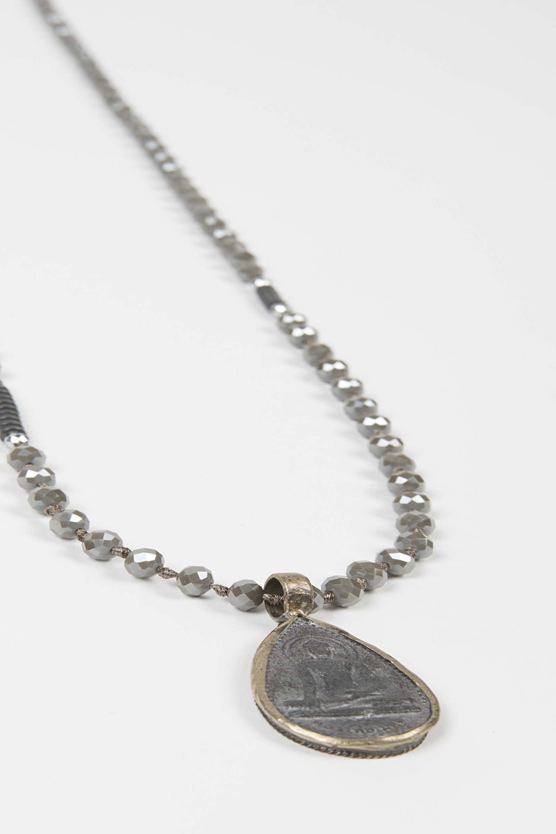 Gray Buddha Necklace