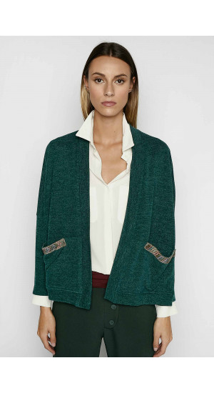 Green Iris Jacket Elisa & Eduardo Rivera