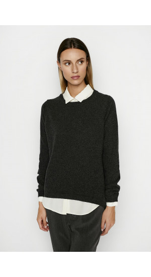 Anthracite Gray Sweater  Elisa & Eduardo Rivera