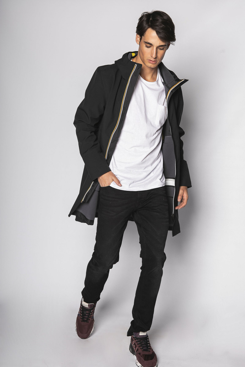 Black K-way Parka Eduardo & Elisa Rivera