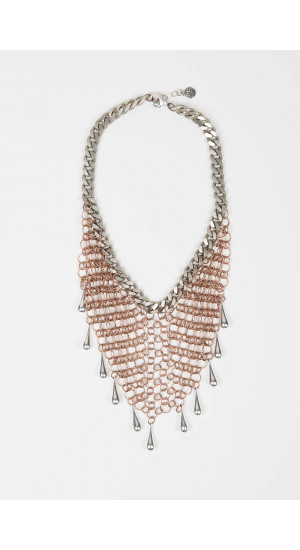 Bronze Drops Mesh Necklace Elisa & Eduardo Rivera