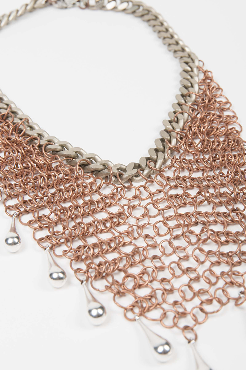 Bronze Drops Mesh Necklace