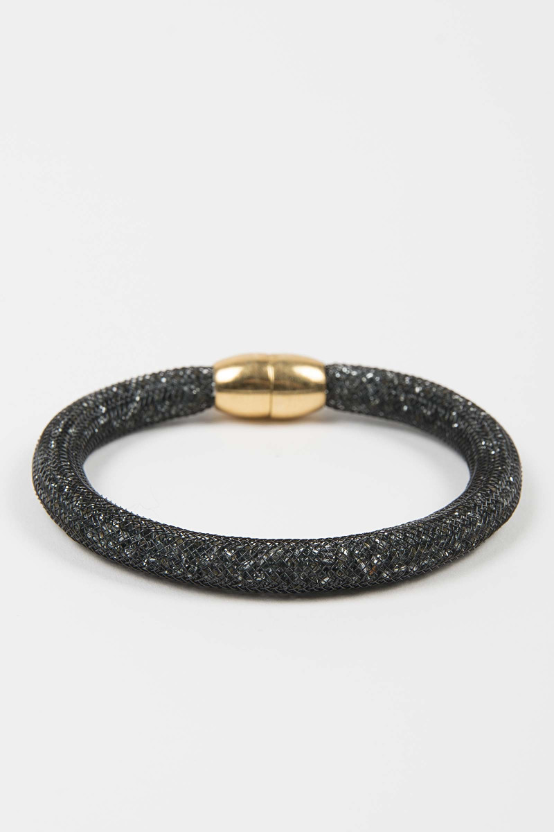 Black Glass Bracelet Elisa & Eduardo Rivera