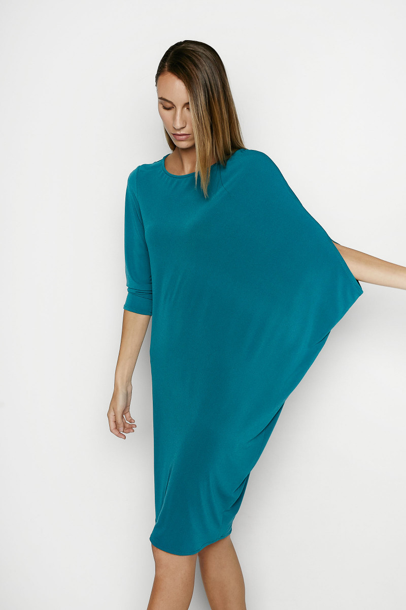 Green Anne Asymmetric Dress