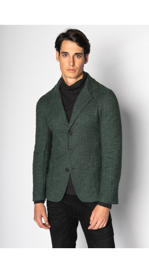 Green Cotton Blazer Eduardo & Elisa Rivera