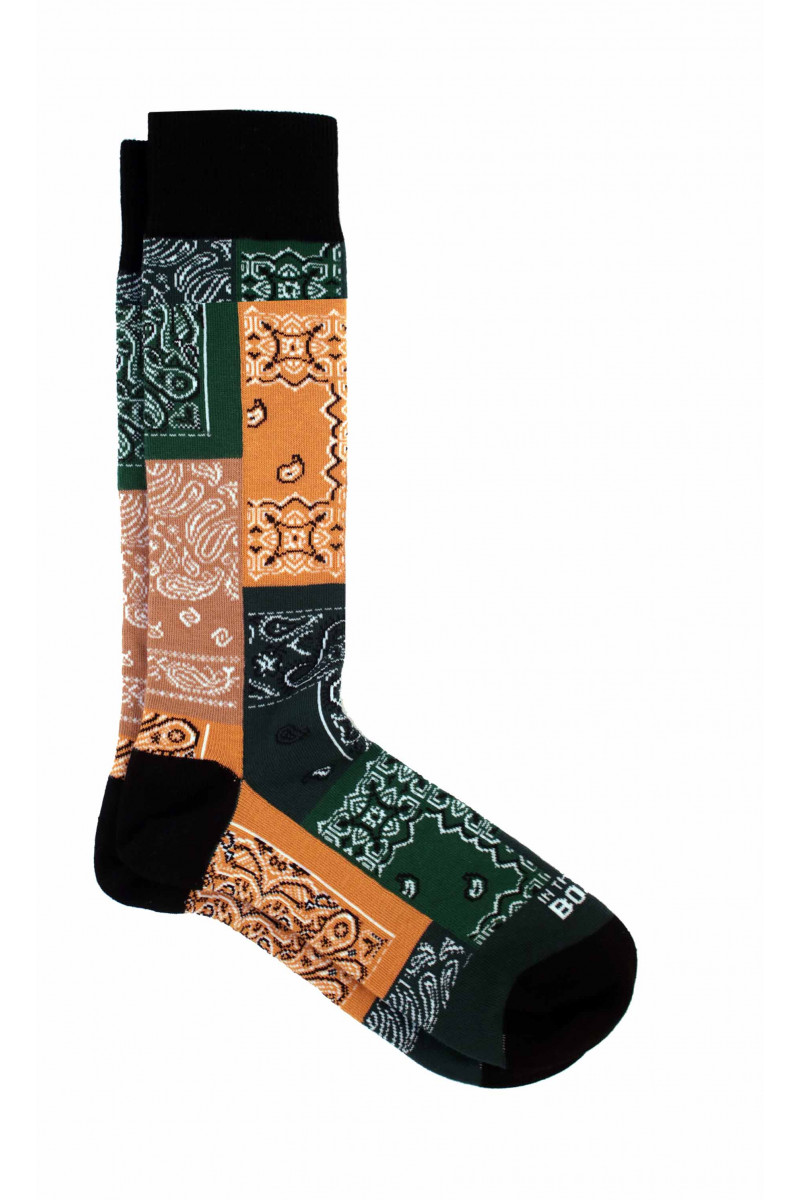 Green-Yellow Mosaic Sock Eduardo & Elisa Rivera