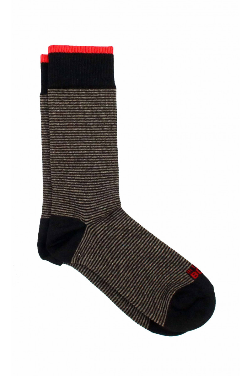 Beige-Blue Thousand Stripes Sock Eduardo & Elisa Rivera