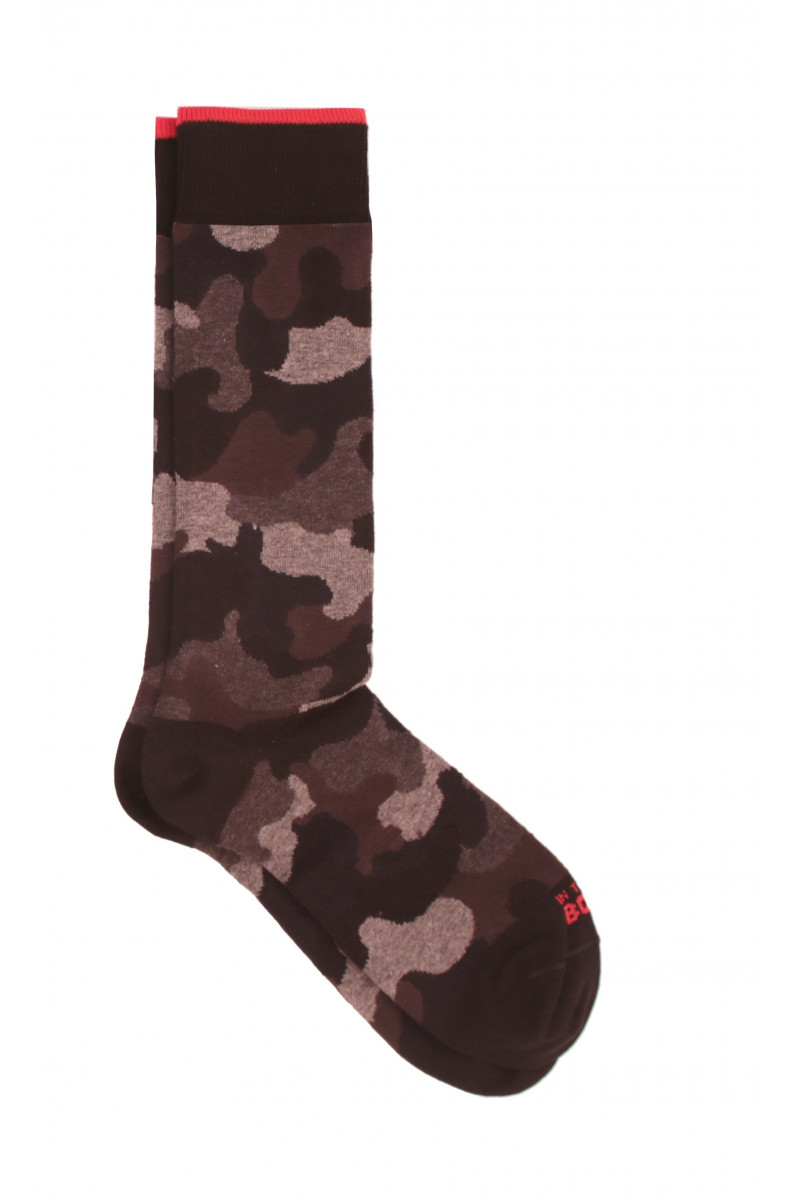 Brown Camouflage Sock Eduardo & Elisa Rivera