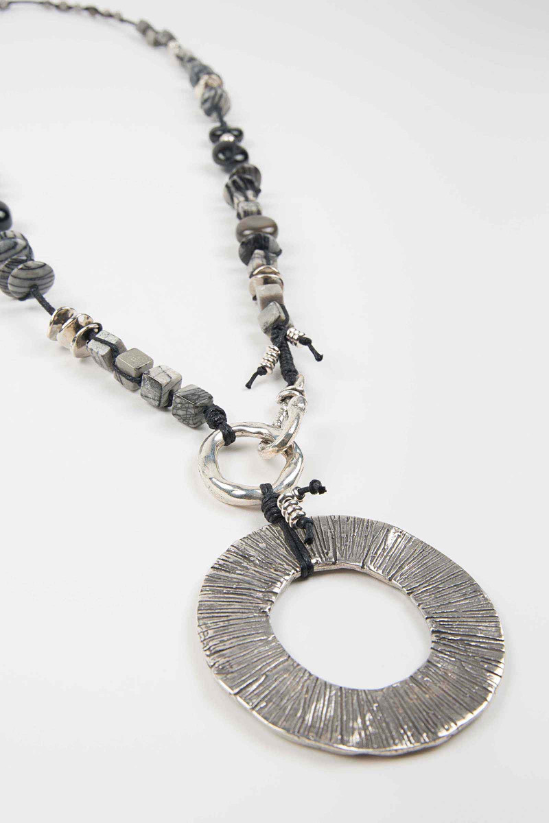 Silver Washer Necklace