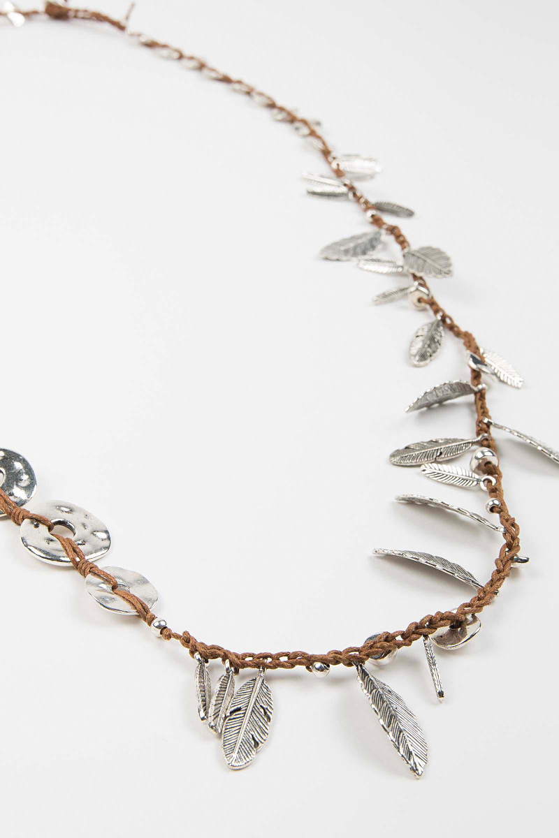 Feather-Washer Necklace