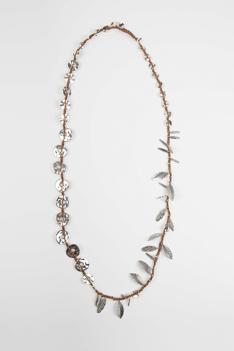 Feather-Washer Necklace Elisa & Eduardo Rivera