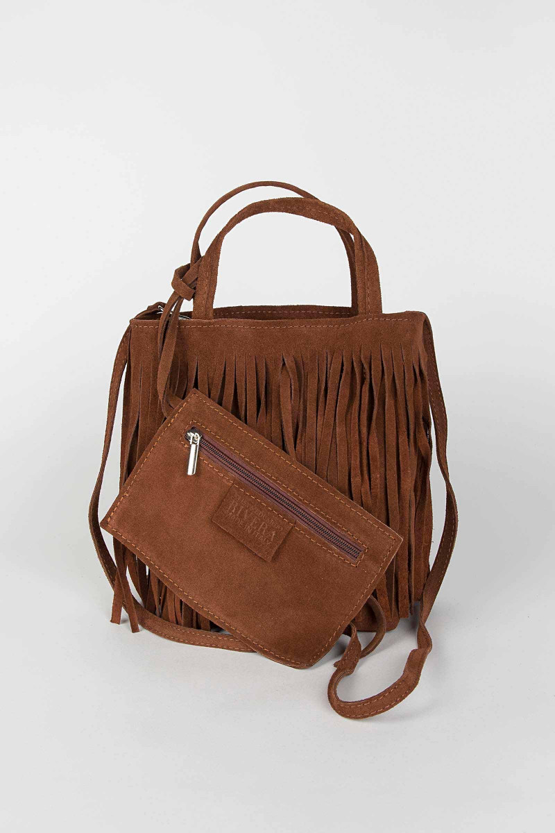 Brown Fringe Shoulder Bag