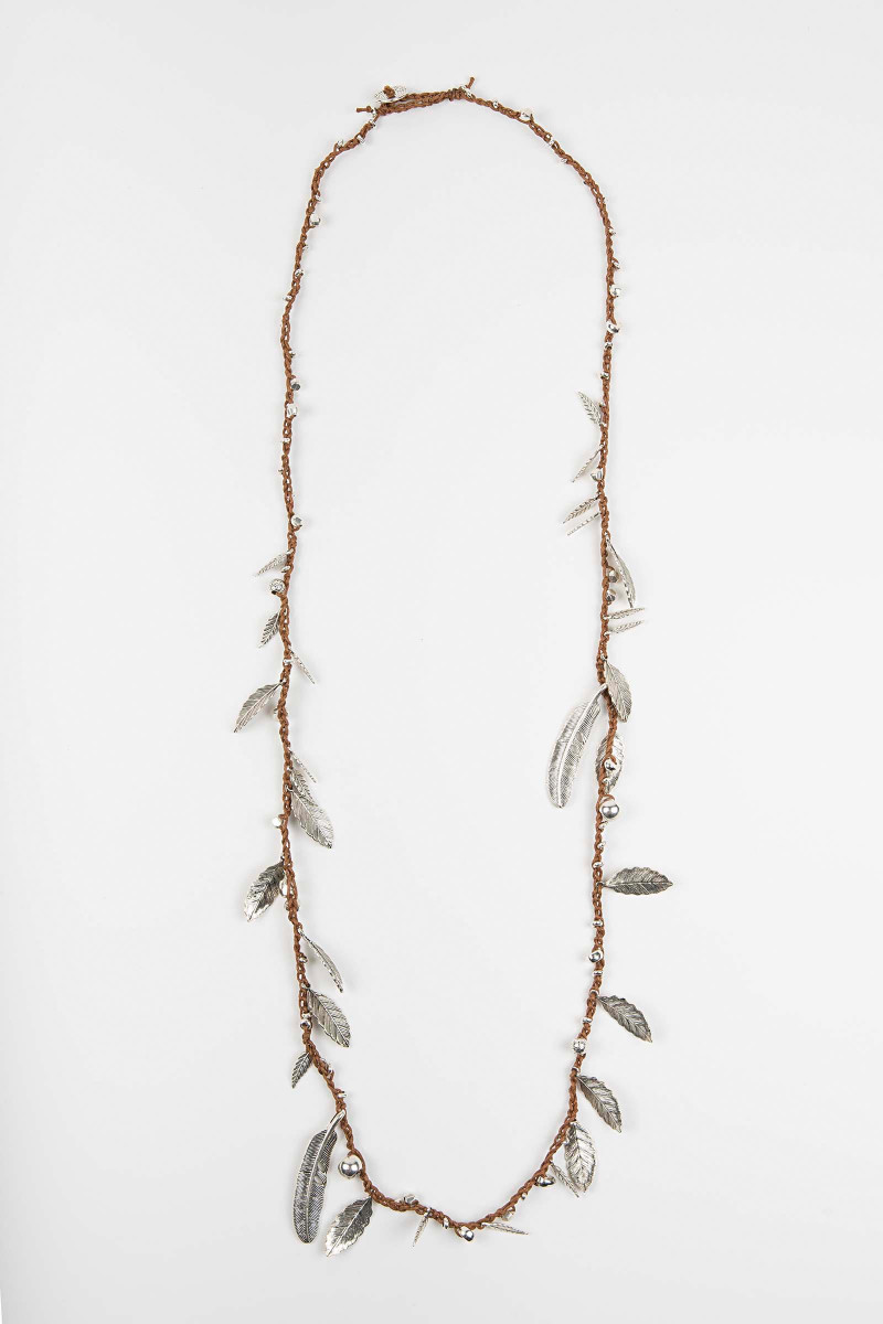 Camel Awa Feathers Necklace Elisa & Eduardo Rivera