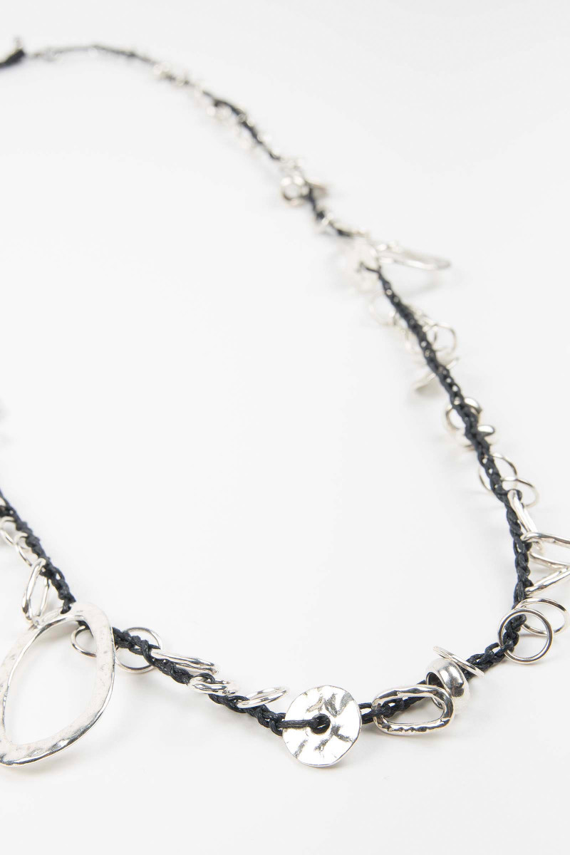 Black Washers Necklace
