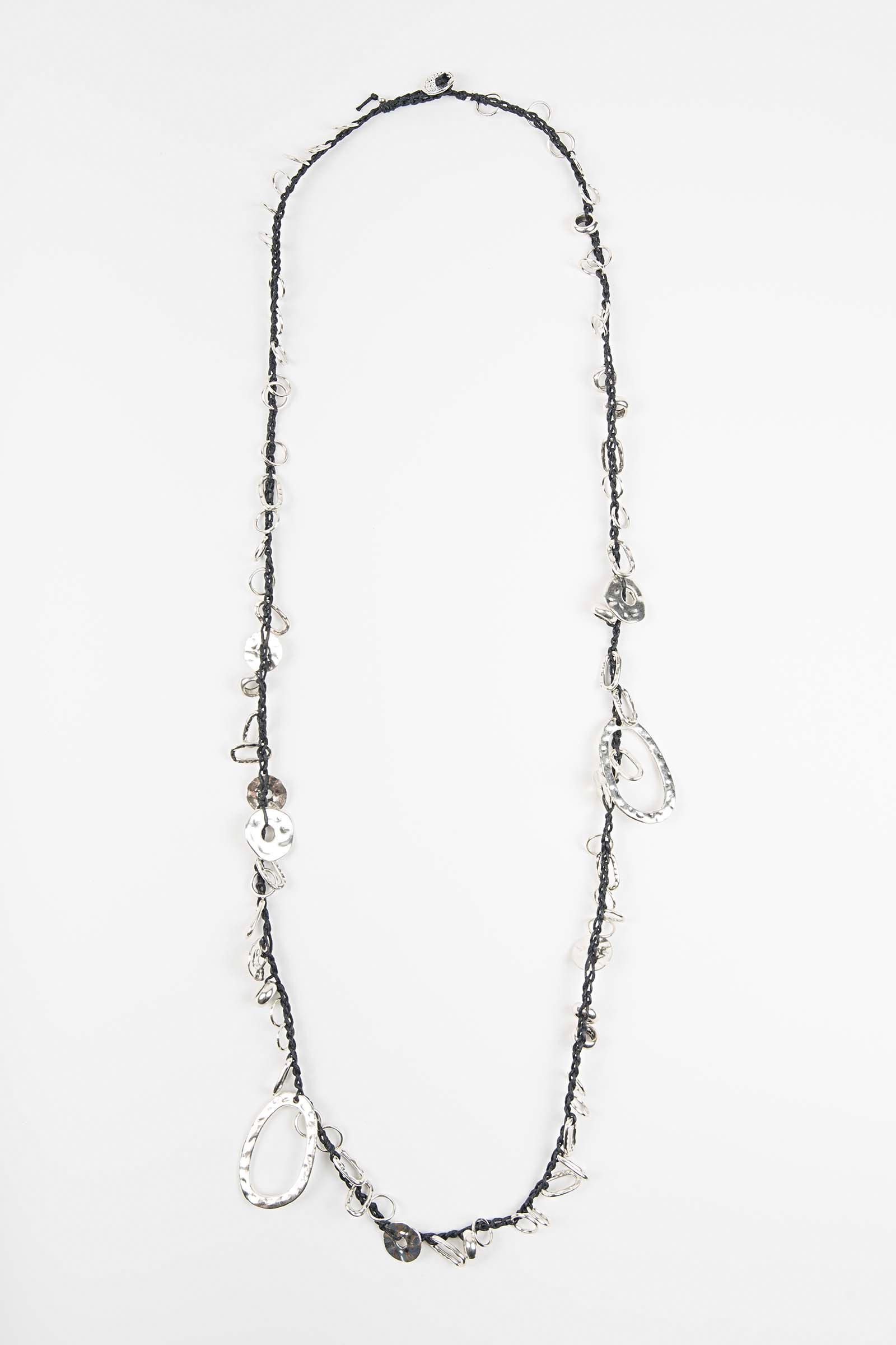Black Washers Necklace Elisa & Eduardo Rivera