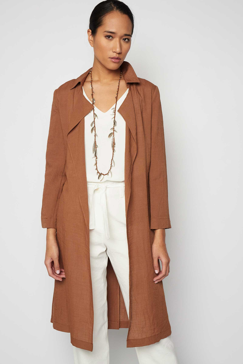 Brown Ordesa Trench Coat Elisa & Eduardo Rivera