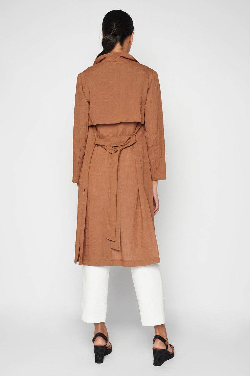 Brown Ordesa Trench Coat
