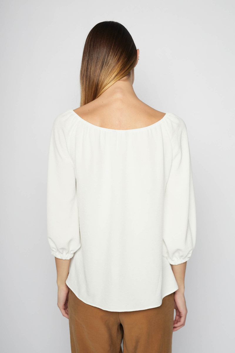 White Lozoya Blouse