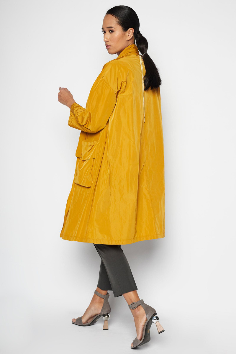 Mustard Arán Trench Coat