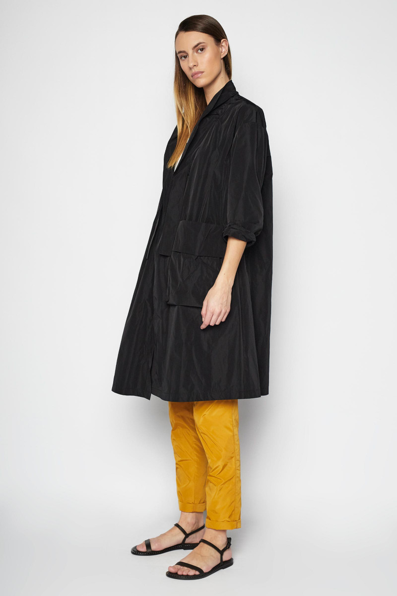 Black Arán Trench Coat