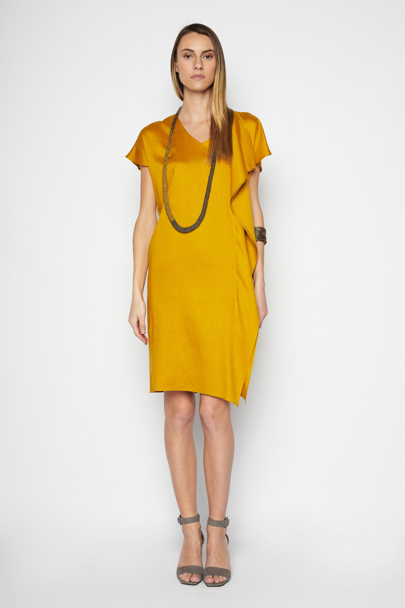 Mustard Olimpo Dress Elisa & Eduardo Rivera