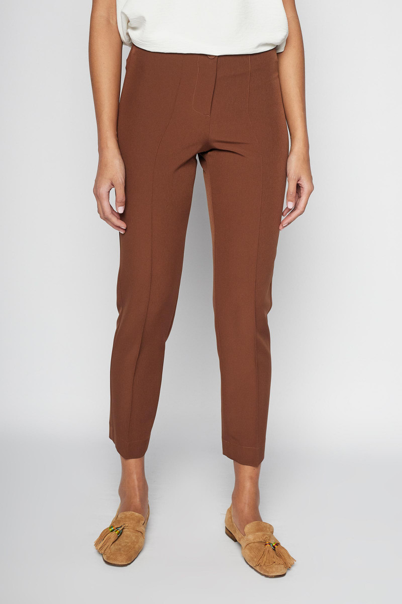 Brown Vela Pants Elisa & Eduardo Rivera
