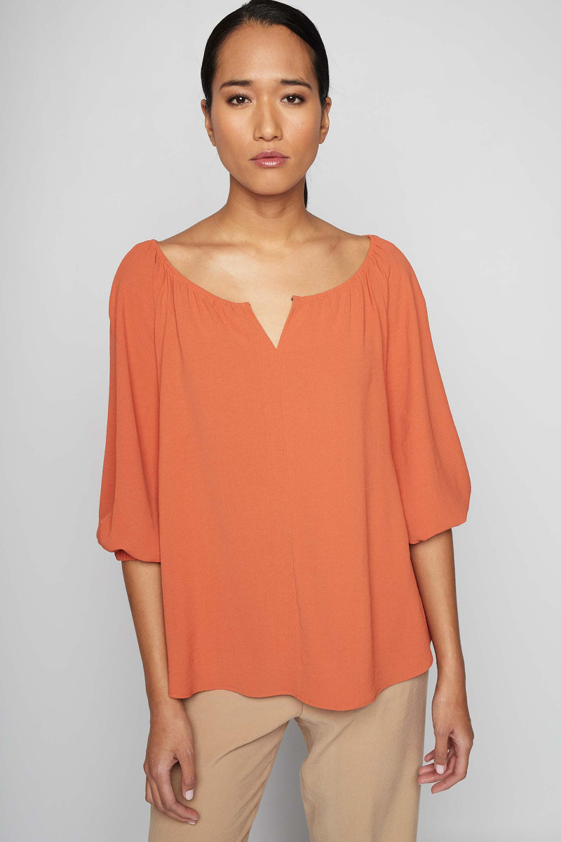 Orange Lozoya Blouse Elisa & Eduardo Rivera