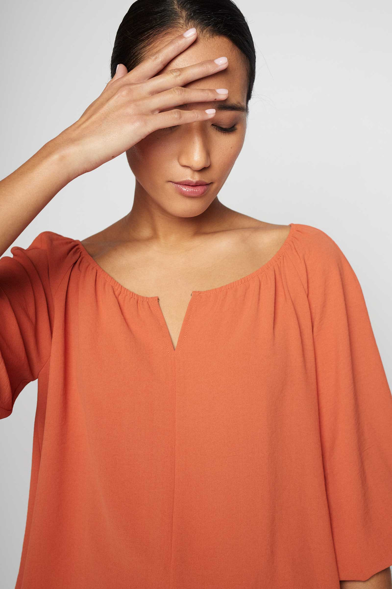 Orange Lozoya Blouse