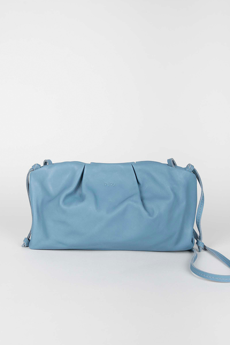 Blue Sandra Leather Clutch Elisa&Eduardo Rivera