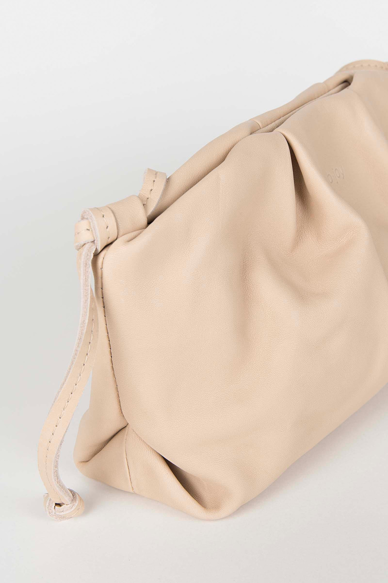 Nude Sandra Leather Clutch