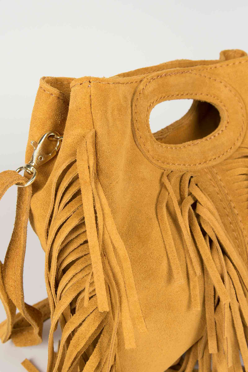 Mustard Fringed Bag